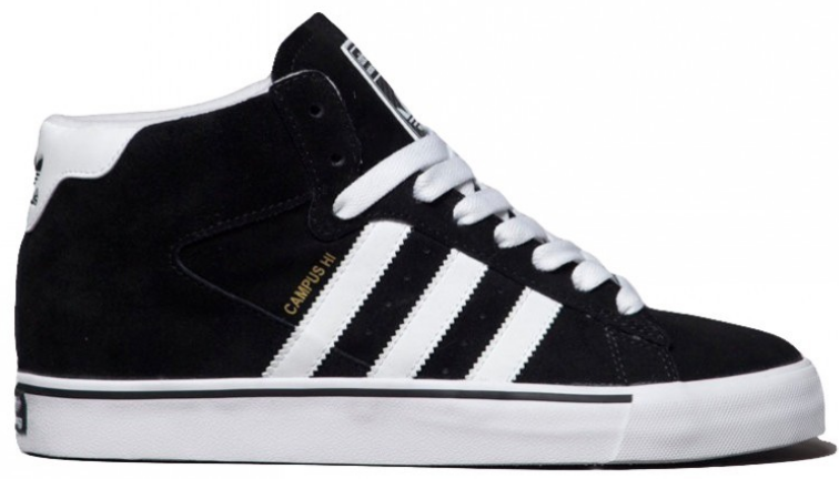 huge selection of 23963 07ebc ADIDAS SKATEBOARDING Campus Vulc Mid black white   Boots » Boots-Men ...