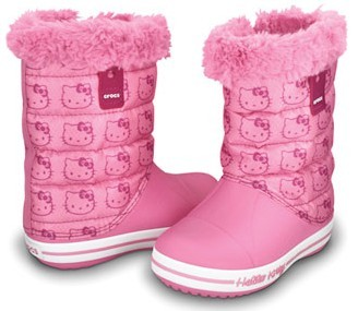 CROCS Hello Kitty Gust Boot Pink Lemonade