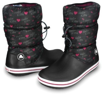 d64bdf5743ae6 CROCS Crocband Winter Boot Hello Kitty black