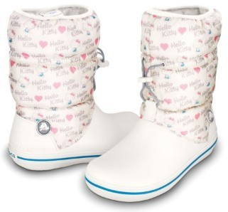 CROCS Crocband Winter Boot Hello Kitty Oyster