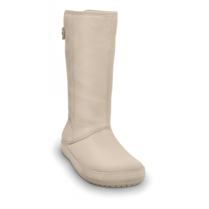 56628397e7 CROCS Berryessa Tall Suede Boot stucco