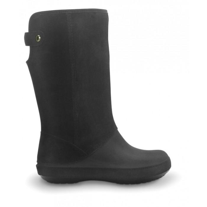 b7e3d5f01 CROCS Berryessa Tall Suede Boot black