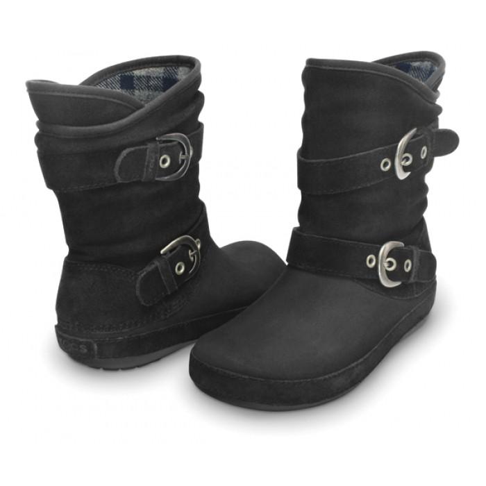 cb6bf00274c CROCS Berryessa Suede Buckle Boot black