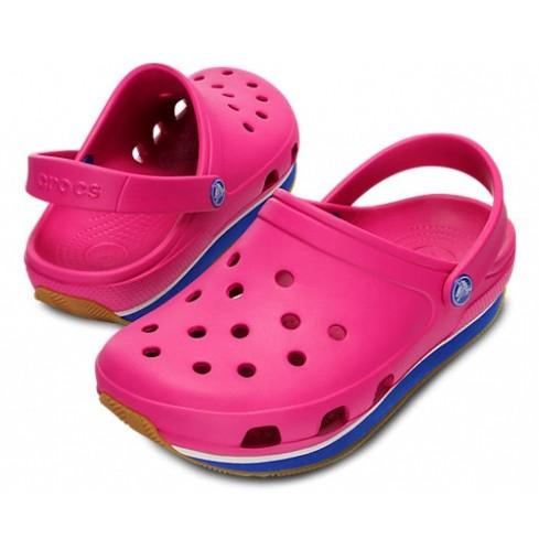 Crocs retro clog fuchsia/sea blue