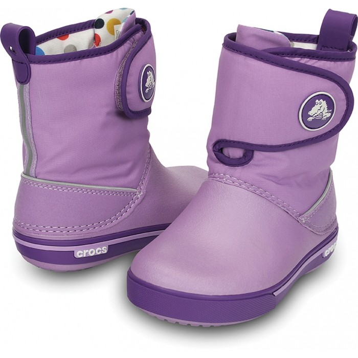 43558085947d CROCS Crocband II.5 Gust Boot Kids Iris Neon Purple