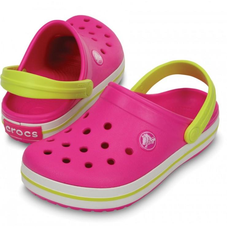 4bbc310b4f3 CROCS Crocband Kids neon magenta citrus