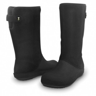 5a27b19c24ac3 CROCS Berryessa Tall Suede Boot Black Black. Berryessa Tall Suede Boot
