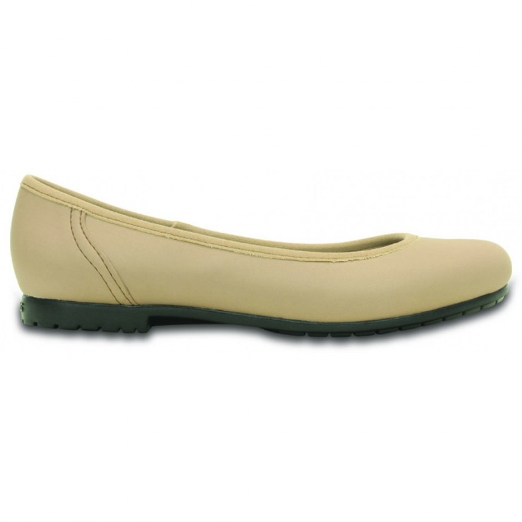 CROCS Marin ColorLite Flat Latte Black  42bf02a790