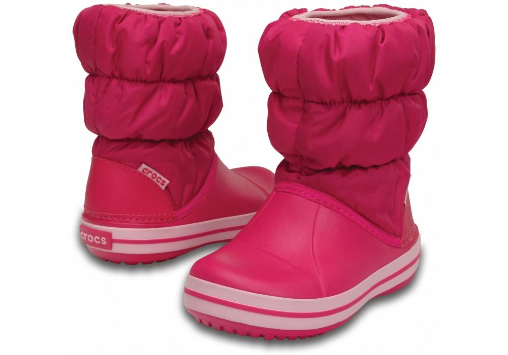 8484f55091c CROCS Winter Puff Boot Kids Candy Pink