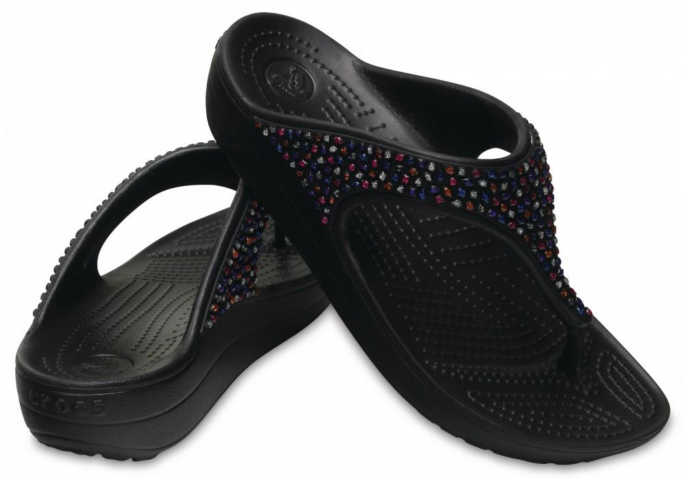 dcc7beb83f CROCS Sloane Embellished Flip Black Multi. Sloane Embellished Flip